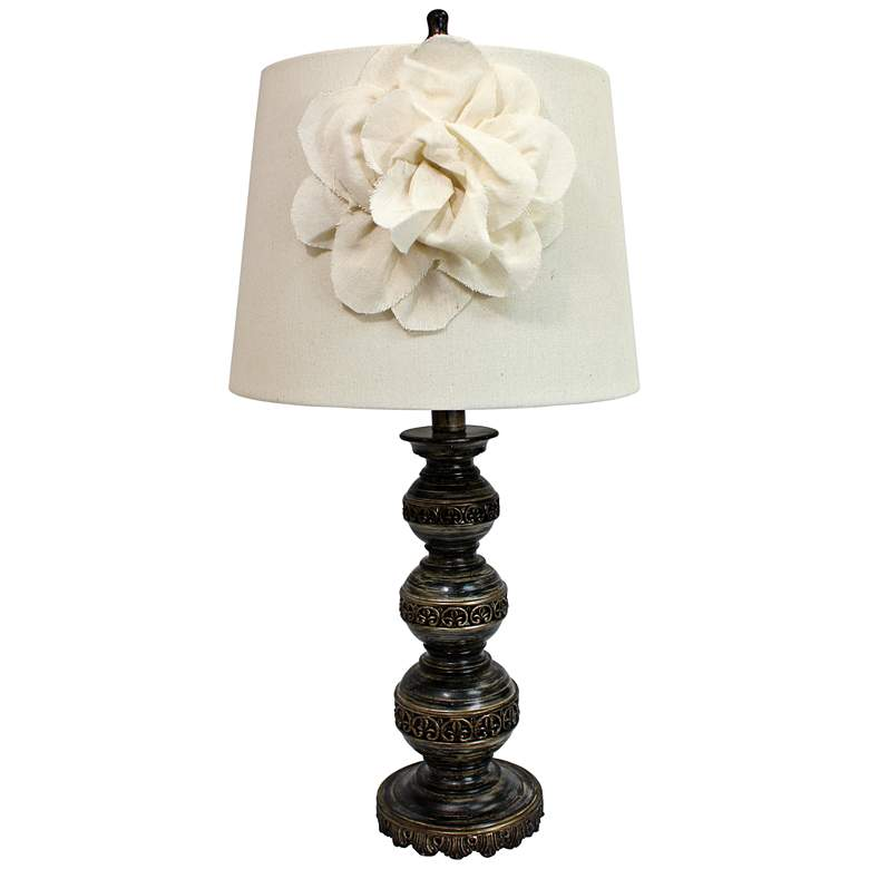 Agnes Aged Bronze Stacked Ball Table Lamp