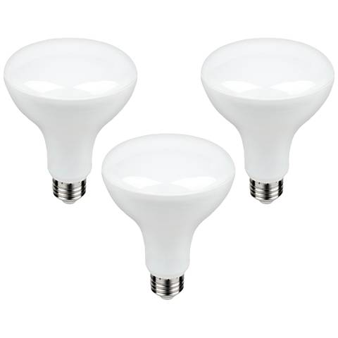 60W Equivalent Frosted 9W LED BR30 Standard Bulbs 3-Pack