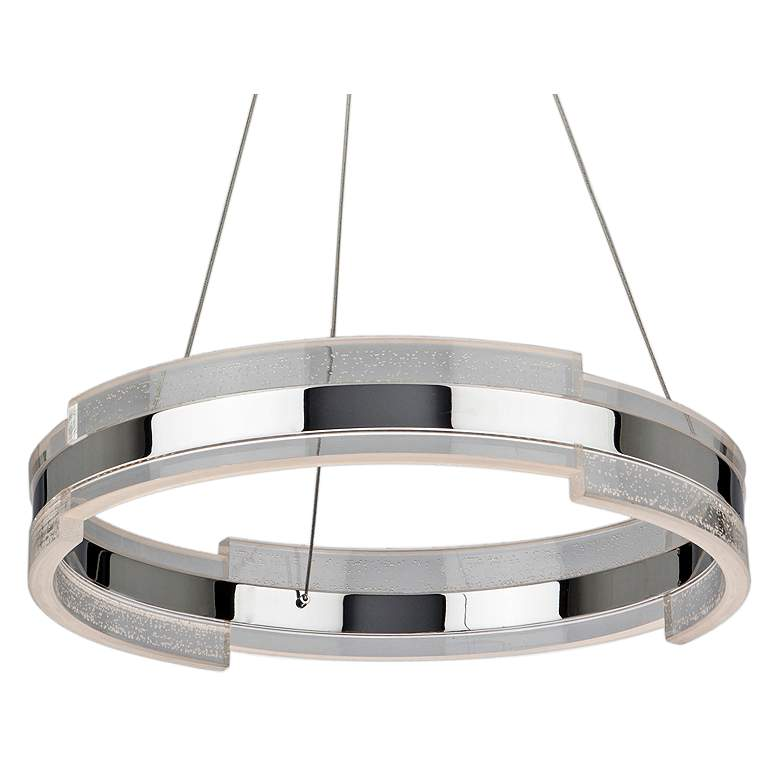 """Artcraft Saturn 24"""" Wide Chrome and Clear LED"""