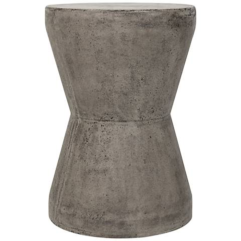 Torre Dark Gray Concrete Indoor-Outdoor Accent Table