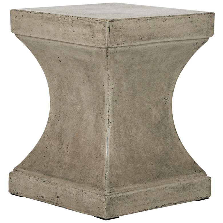 Curby Dark Gray Concrete Indoor-Outdoor Accent Table