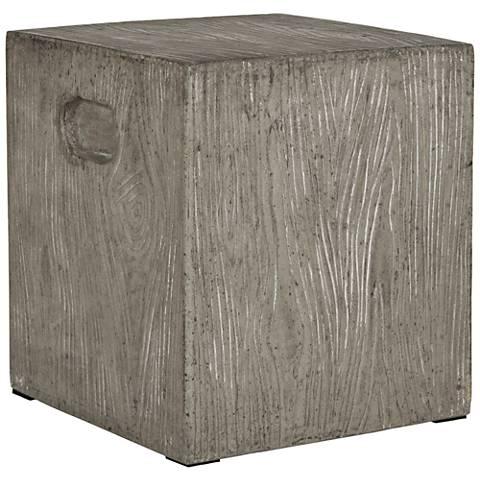 Safavieh Cube Dark Gray Concrete Indoor-Outdoor Accent Table