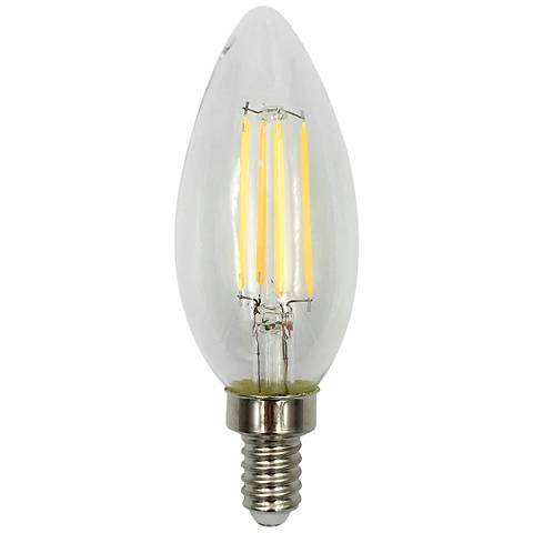 60W Equivalent Torpedo 6W LED Dimmable Filament Candelabra