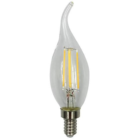 60W Equivalent Clear 6W LED Dimmable Flame Tip Candelabra