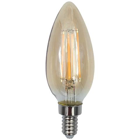 60W Equivalent Amber 6W LED Dimmable Torpedo Tip Candelabra