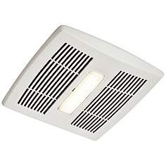 Broan Invent Led White 80 Cfm 1 5 Sones Lighted Bath Fan