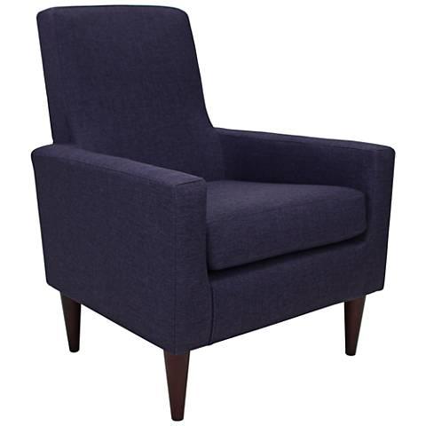 Edward Eggplant Woven Fabric Armchair