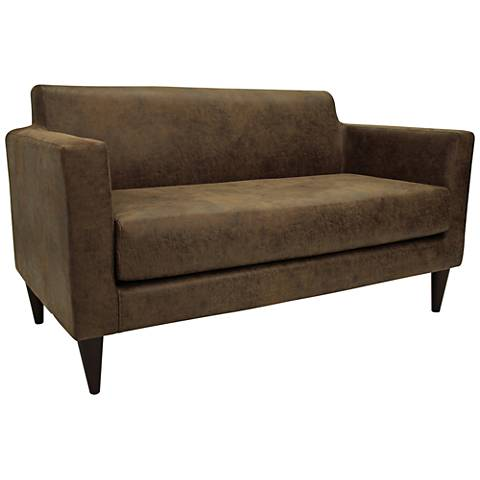 """Netto 56 1/4"""" Wide Stout Fabric Settee Sofa"""