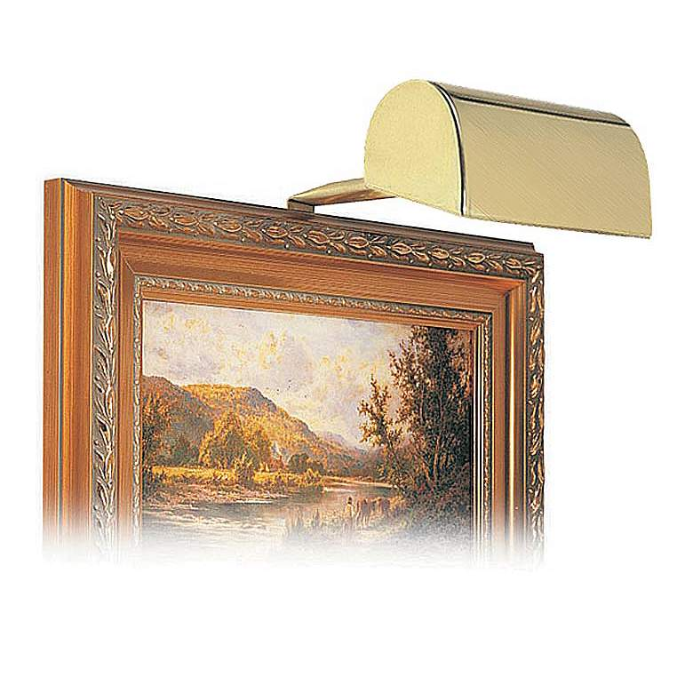 """House of Troy 5"""" Wide Satin Brass Plug-in Picture Light"""