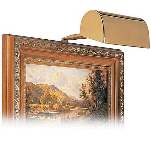 "House of Troy 5"" Wide Polished Brass Plug-in Picture Light"