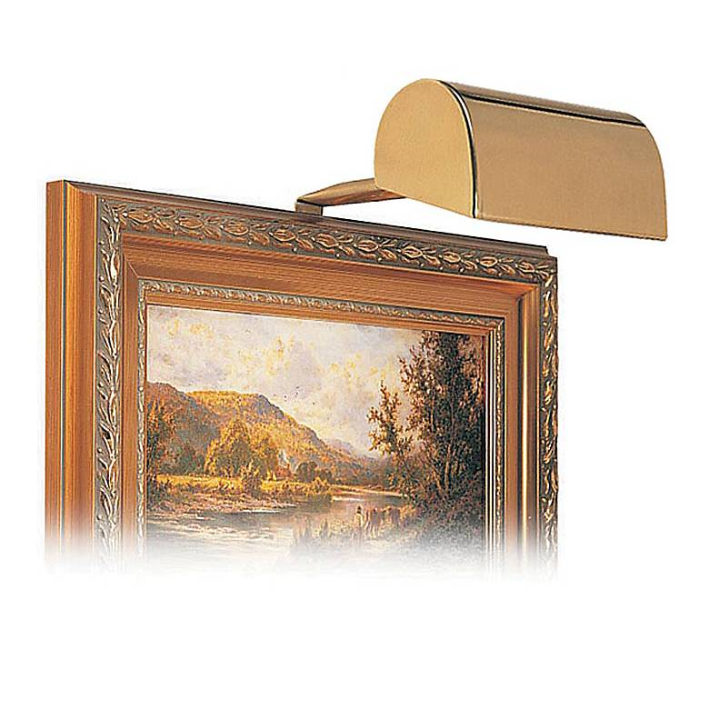 """House of Troy 5"""" Wide Polished Brass Plug-in Picture Light"""