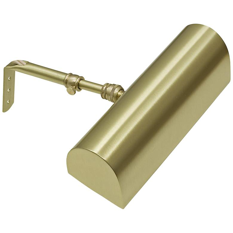 """House of Troy 8""""  Wide Satin Brass Plug-In Picture Light"""