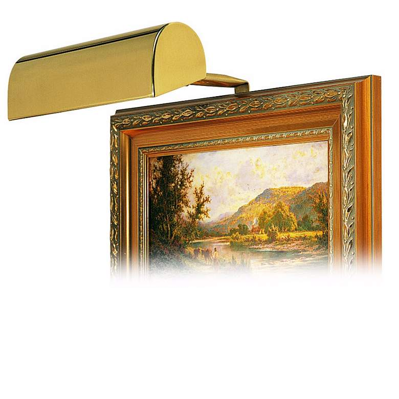 """House of Troy 8"""" Wide Polished Brass Plug-in Picture Light"""