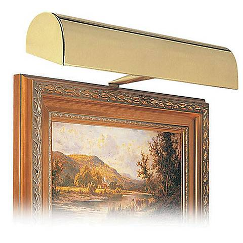 """House of Troy 14"""" Wide Gold Plug-in Picture Light"""