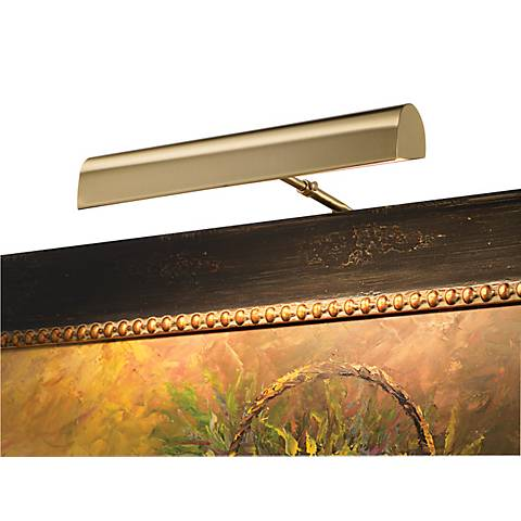 "House of Troy 14"" Wide Plug-In Satin Brass Picture Light"