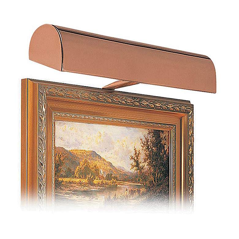"""House of Troy 14"""" Wide Statuary Bronze Plug-In Picture Light"""