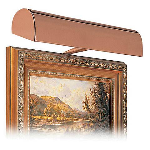 "House of Troy 14"" Wide Statuary Bronze Plug-In Picture Light"