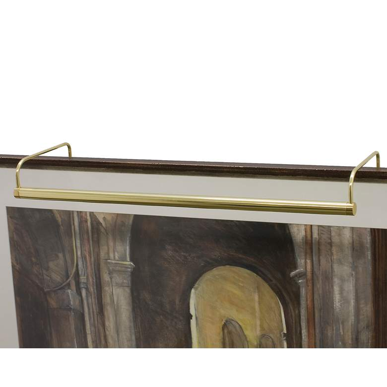 """Slim-Line 21"""" Wide Polished Brass Plug-In Picture Light"""