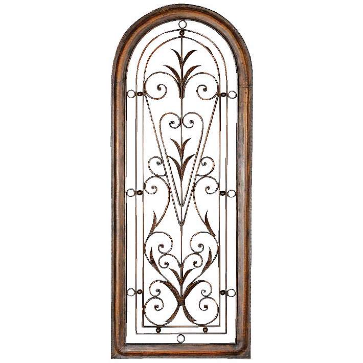 High Arched Metal Wall Art