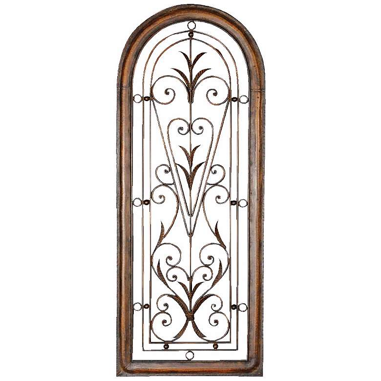 "Uttermost Petite Cristy 50"" High Arched Metal Wall Art"