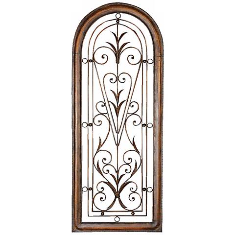 """Uttermost Petite Cristy 50"""" High Arched Metal Wall Art"""