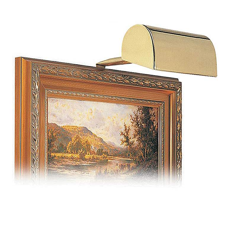 """House of Troy 5"""" Wide Gold Finish Plug-in Picture Light"""