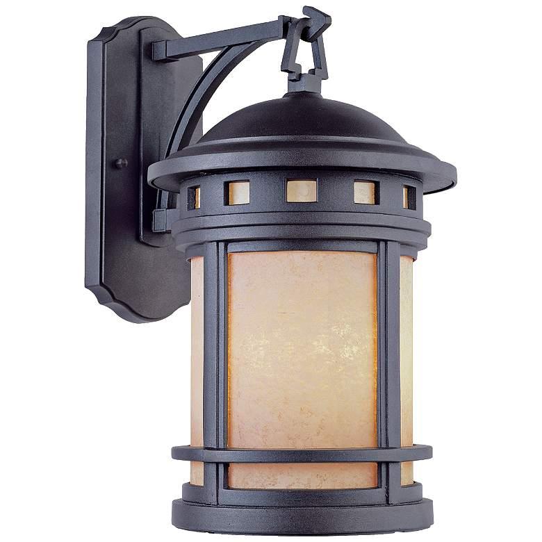 """Sedona 16 1/4"""" High Amber Glass Bronze Outdoor Wall Light"""