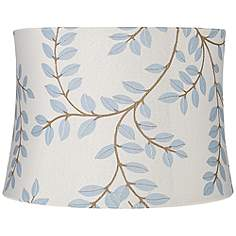Contemporary embroidered lamp shades lamps plus bahama gray soft drum lamp shade 13x14x10 spider aloadofball Images