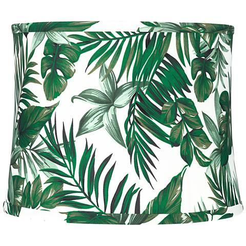 Manaus Green Tropical Drum Lamp Shade 12x13x10 (Spider)