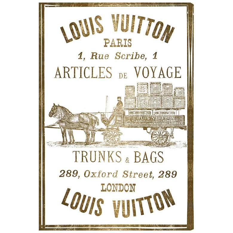 Oliver Gal Articles De Voyage Gold Leaf Canvas