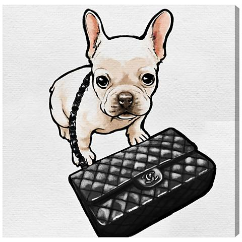 Oliver Gal Classy Frenchie Canvas Wall Art