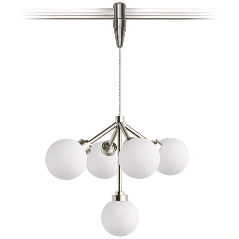 "Mara 12 1/4""W White and Nickel LED Monorail Pendant Light"
