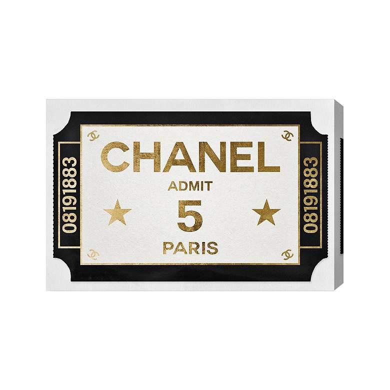 Oliver Gal Ticket Admit One Paris Canvas Wall