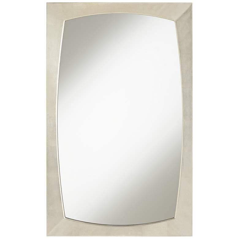 "Adams Silver Painted Frame 24"" x 38"" Wall Mirror"
