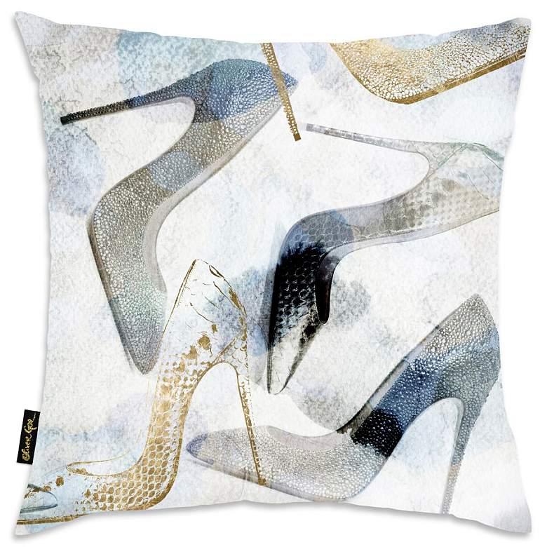 "Oliver Gal Bianca Velvet 18"" Square Decorative Pillow"