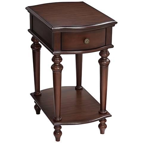 Norwood Mahogany Wood Side Table