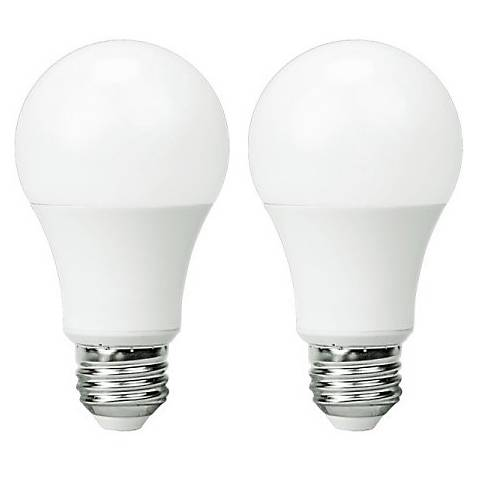 60W Equivalent Frosted 9W LED Dimmable Standard Bulb 2-Pack