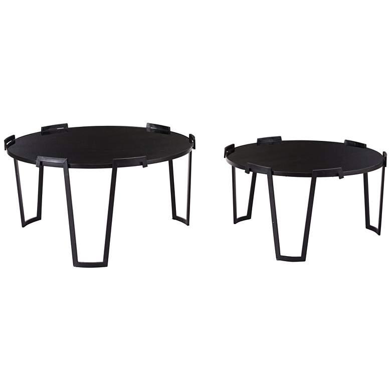Zorba Black Nesting Coffee Tables 2-Piece Set