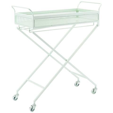 Zuo Mint Green Steel Bar Cart
