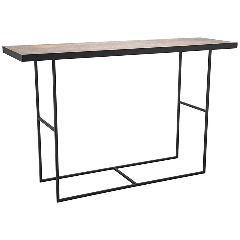 """Forest Wood 47 1/4"""" Wide Rustic Modern Console Table"""