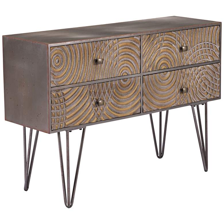 """Zuo Circulos 39 1/4"""" Wide Brown Wood Console Table"""