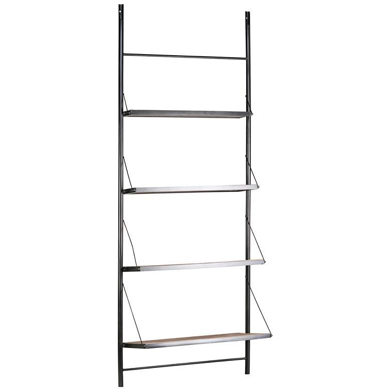 "Lennox 96"" High Reclaimed Wood Freestanding Display Shelf"