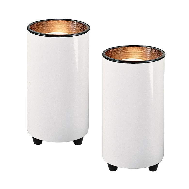 "White 6 1/2"" High Mini Accent Can Spot Lights Set of 2"