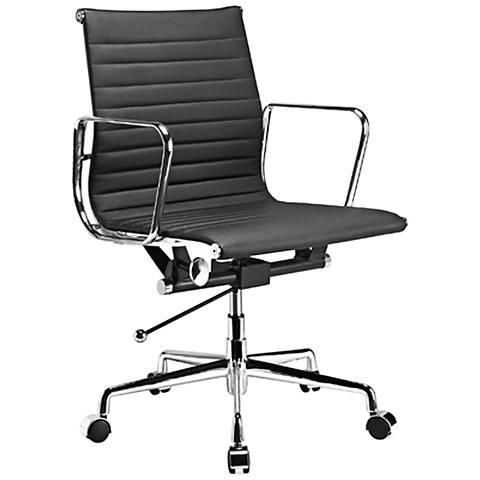 Ellwood Black Mid-Back Adjustable Office Chair