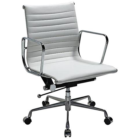 Ellwood White Mid-Back Adjustable Office Chair