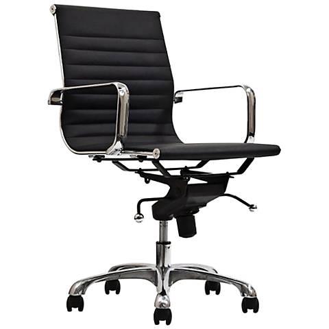 Delancey Black Mid-Back Adjustable Office Chair
