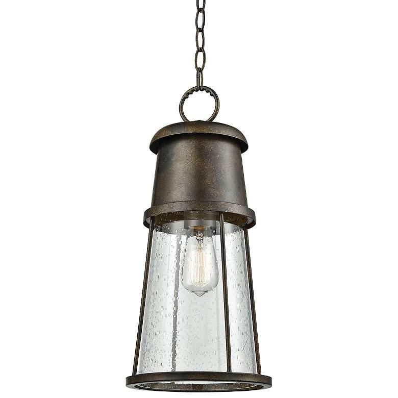 """Crowley 18"""" High Hazelnut Bronze Outdoor Hanging Light"""