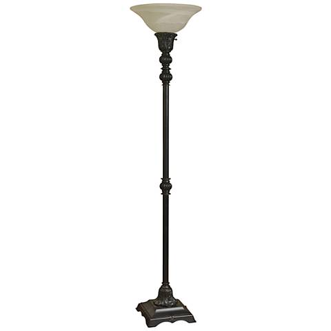 Madison Bronze Torchiere Floor Lamp