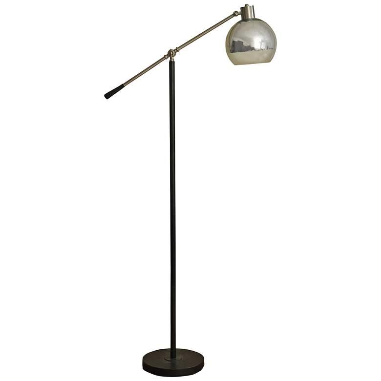 Holloran Silver Metal Adjustable LED Task Floor Lamp