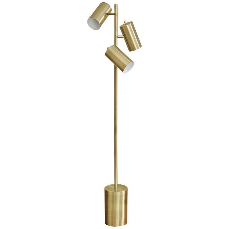 Sophie Antique Brass Adjustable LED Task Floor Lamp